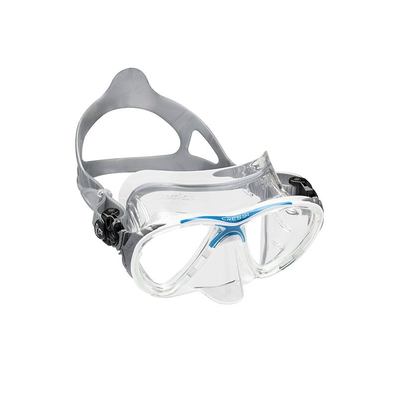 cressi big eye evolution crystal mask blue